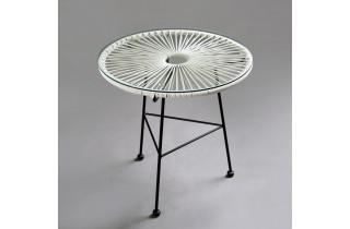Table en acier blance OVALY - Hémisphère Editions
