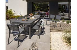 Ensemble table et chaises de jardin en aluminium 12 personnes DCB Garden COPENHAGUE