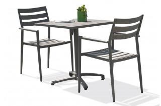 Ensemble table et fauteuils de jardin en aluminium 2 personnes Gabin CITY GARDEN