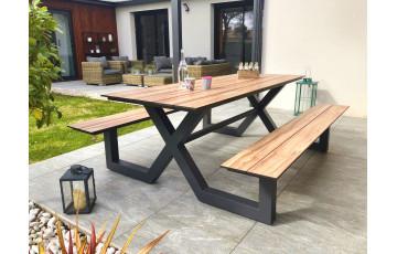 Table salon de jardin en aluminium pour 6/8 personnes Paris Garden VANCOUVER anthracite