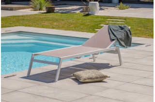 Bain de soleil design en aluminium & textilène DCB Garden MAYOTTE