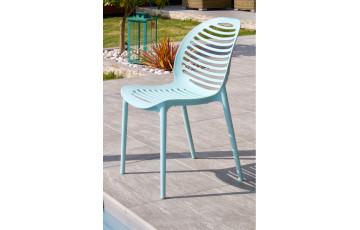 Chaise de jardin empilable OLBIA en PVC DCB GARDEN