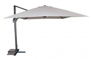 Parasol de jardin déporté SEVILLA 4x3m en aluminium et toile polyester DCB GARDEN