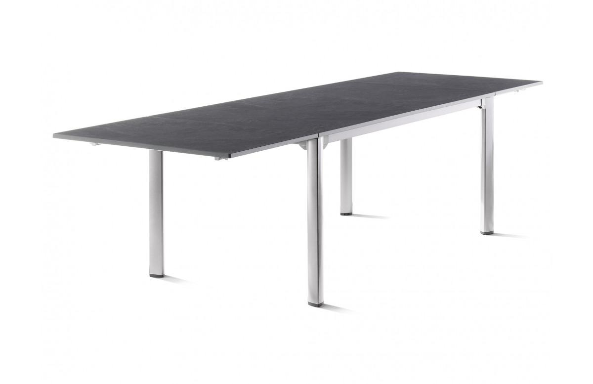 Table de jardin à rallonges aluminium/Vivodur 10 personnes - Sieger Exclusiv