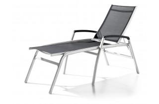 Bain de soleil luxe design inclinable aluminium/Textilux Bodega - Sieger