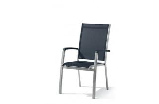 Fauteuil salon de jardin pliant aluminium/Textilux Bodega - Sieger