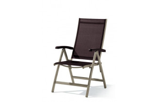 Grand fauteuil salon de jardin inclinable aluminium/Textilux Bodega - Sieger