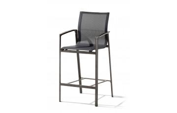 Fauteuil haut salon de jardin pliant aluminium/Textilux Bozen Barset - Sieger Exclusiv