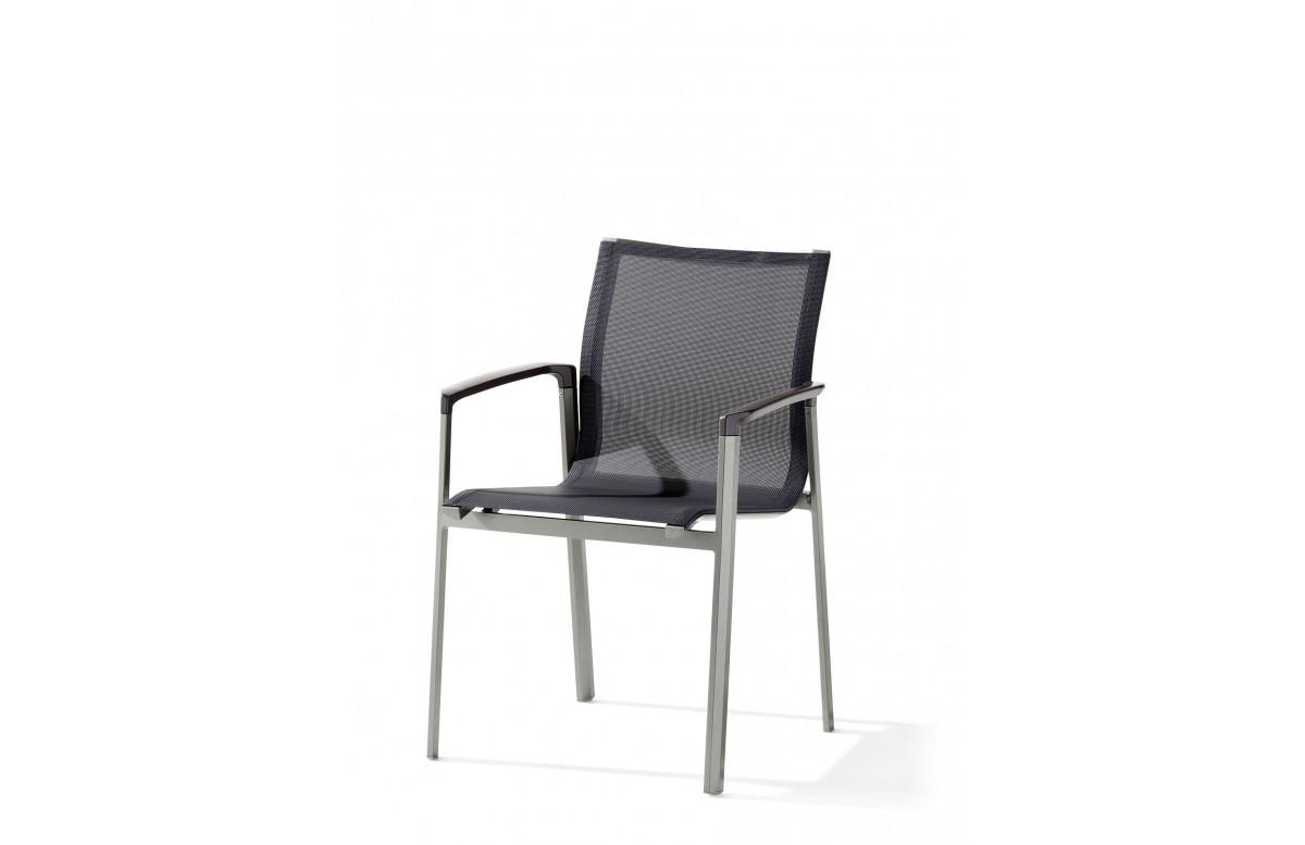 Fauteuil salon de jardin pliant aluminium/Textilux Bozen - Sieger Exclusiv