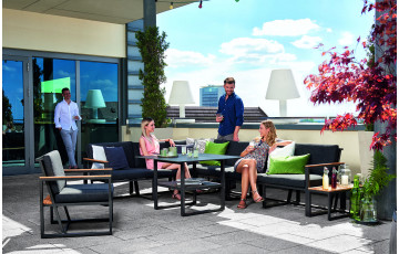 Salon de jardin bas aluminium/Sunproof 7 personnes Havanna - Sieger Exclusiv Passion