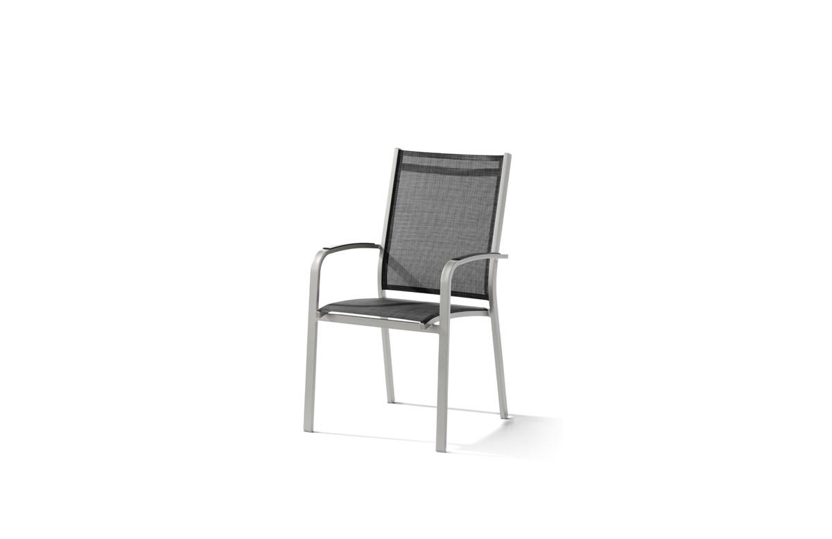 Fauteuil salon de jardin pliant aluminium/Textilux Meran - Sieger
