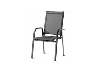 Fauteuil salon de jardin pliant aluminium/Textilux Padua - Sieger Exclusiv