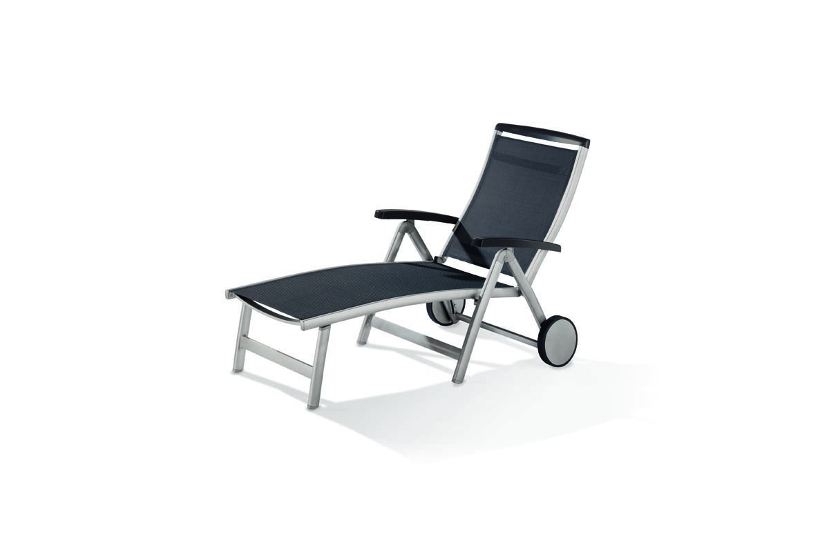 Bain de soleil design inclinable aluminium/Textilux Royal - Sieger Exclusiv