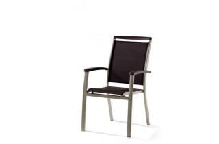Fauteuil salon de jardin pliant aluminium/Textilux Royal - Sieger Exclusiv