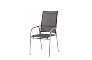 Fauteuil salon de jardin empilable aluminium/Textilux Sirio - Sieger Exclusiv