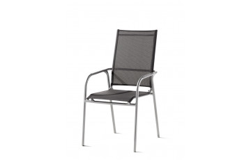 Fauteuil salon de jardin pliant aluminium/Textilux Sirio - Sieger Exclusiv