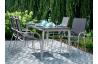 Ensemble table et fauteuils de jardin pliant aluminium/Textilux 6 personnes Sirio - Sieger Exclusiv