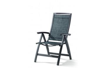 Grand fauteuil salon de jardin inclinable aluminium/Textilux Trento - Sieger Exclusiv