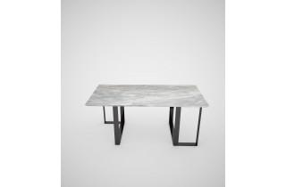 Table de jardin rectangulaire en acier laqué noir RATIO - TrackDesign par Vincenzo Minenna