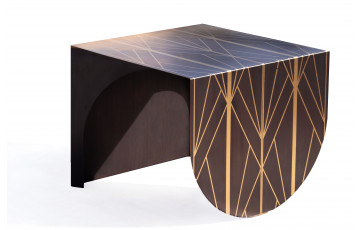Table basse en corten bruni AESTUS - TrackDesign par Vincenzo Minenna