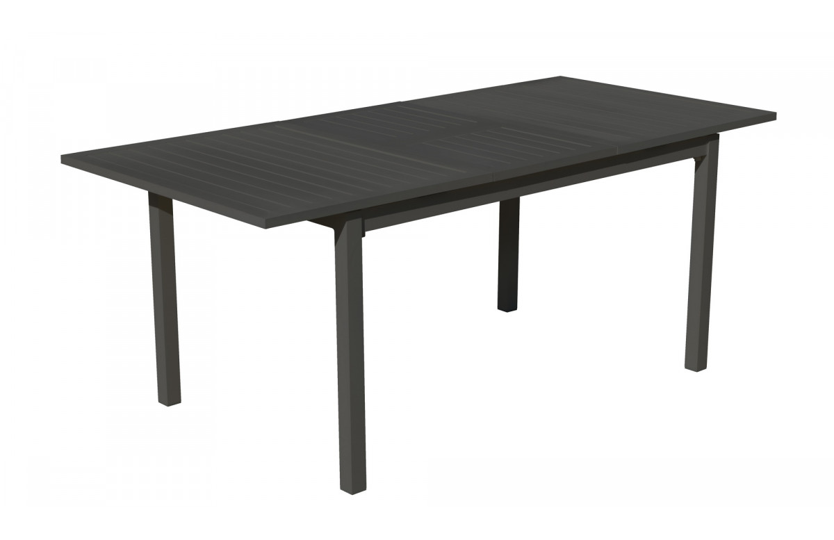 Table salon de jardin extensible 8 personnes en aluminium - Palma - Hevea
