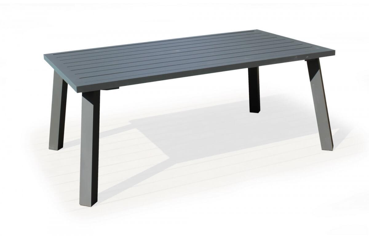 Table salon de jardin 8 personnes en aluminium - Dalas - Hevea