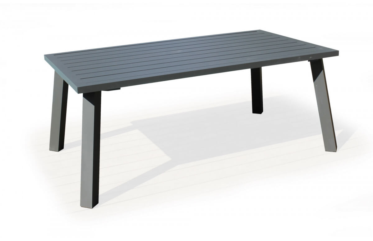 Table salon de jardin 8 personnes en aluminium et cordage - Dalas - Hevea
