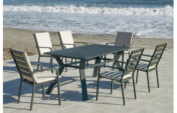 Table salon de jardin 10 personnes en aluminium - Olimpia - Hevea