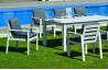 Fauteuil salon de jardin en aluminium et Dralon - Camelia - Hevea