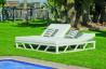 Lit de jardin balinaise multi-positions 2 personnes en aluminium et Dralon - Filipinas - blanc - Hevea