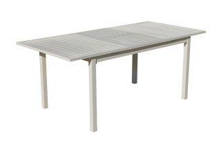 Table salon de jardin extensible 8 personnes en aluminium - Palma - Hevea