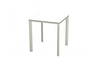 Table de jardin carrée empilable MEET en aluminium et HPL 2 personnes EZPELETA