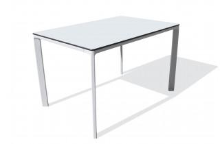 Table de jardin rectangulaire empilable MEET en aluminium et HPL 4 personnes EZPELETA