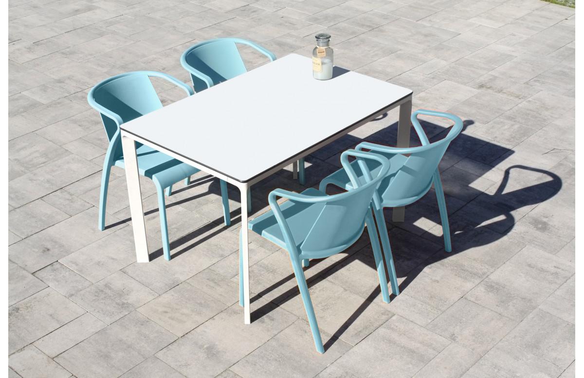 Ensemble table et chaises de jardin 4 personnes Ezpeleta Meet-Fado