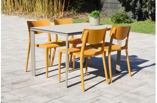 Ensemble table et chaises de jardin 4 personnes Ezpeleta Meet-Town