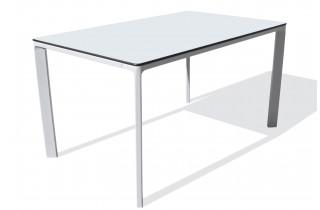 Table de jardin rectangulaire empilable MEET en aluminium et HPL 4/6 personnes EZPELETA