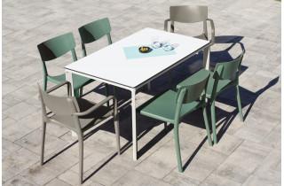 Ensemble table et chaises de jardin 6 personnes Ezpeleta Meet-Town