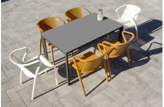 Ensemble table et chaises de jardin 6 personnes Ezpeleta Meet-Fado