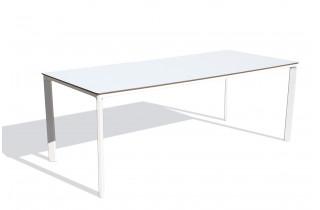 Table de jardin rectangulaire empilable MEET en aluminium 6 à 8 personnes EZPELETA