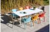 Table de jardin rectangulaire empilable MEET en aluminium et HPL 6 à 8 personnes EZPELETA