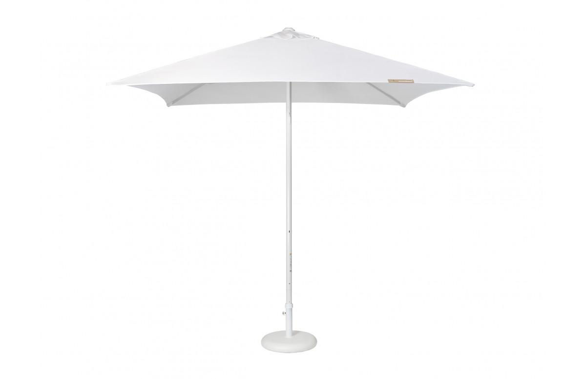 Parasol de jardin ouverture push-up EOLO 250x250 cm en aluminium laqué et toile polyester EZPELETA