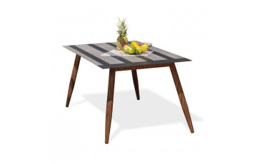 Table salon de jardin 4-6 personnes en aluminium rectangulaire DCB Garden SCANDI