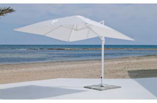 Parasol 3x3m déporté inclinable en aluminium et polyester - Gabana - Hevea