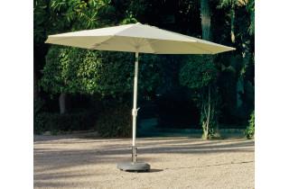 Parasol 3,5m inclinable en aluminium et polyester - Marlou - Hevea