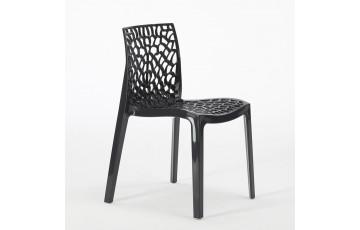Chaise salon de jardin empilable en polypropylène GRUVYER