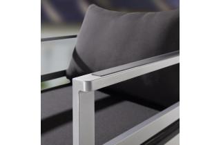 Salon de jardin bas pliant aluminium/Sunproof 6 personnes Melbourne - Sieger Exclusiv Passion