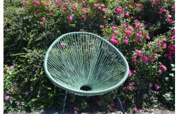 Fauteuil salon de jardin en polyéthylène empilable Acapulco