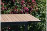 Table de jardin à rallonge pivotante 8 personnes en aluminium imitation bois Castres