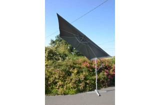 Parasol de jardin carré déporté et inclinable 2m50 gris