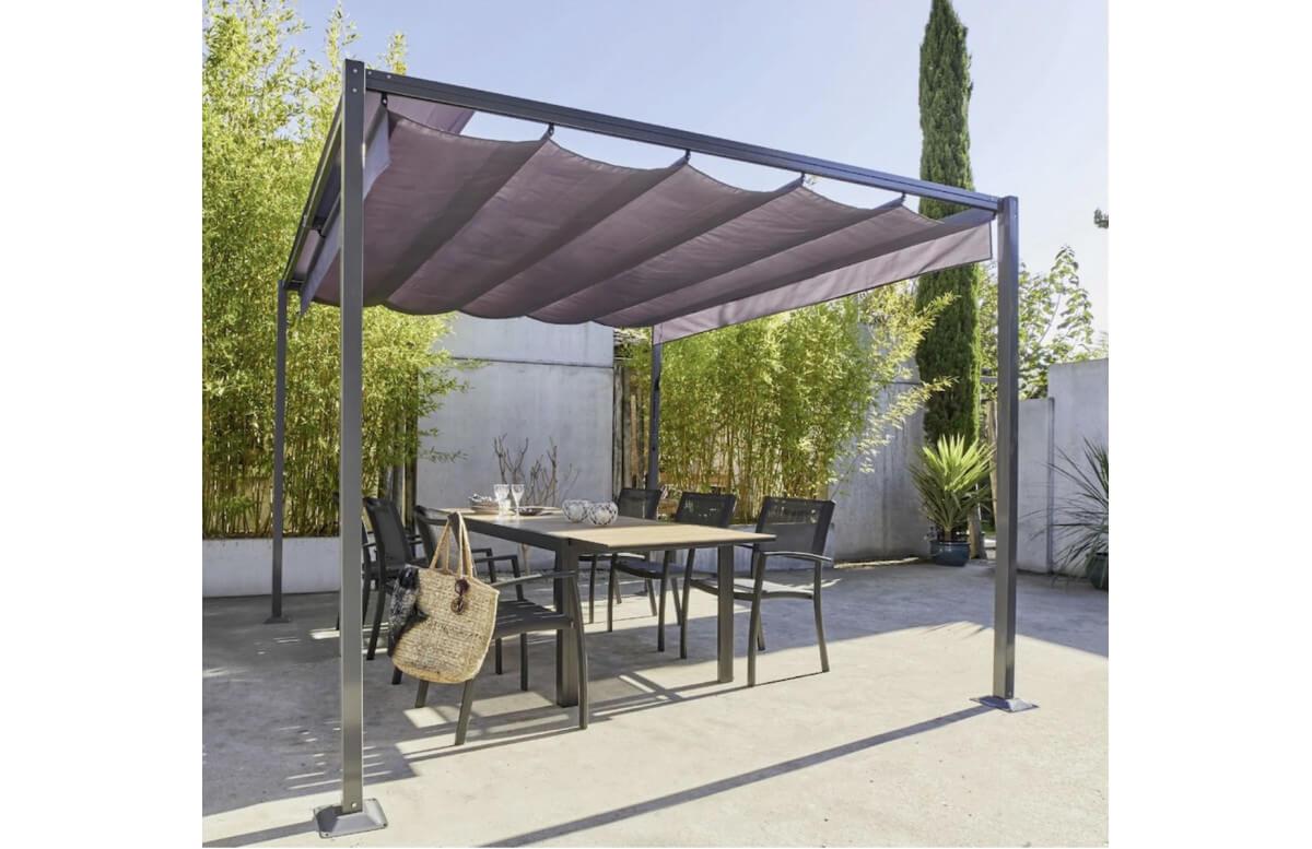 Pergola 3x3m à toit coulissant Mon Jardin Cosy